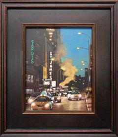 New York City Painting Michael Budden Evening On Broadway St James & Sardis