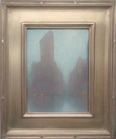 New York City Painting Michael Budden Rainy Day Fog Flatiron Building