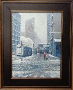 New York City Painting Michael Budden Winter Afternoon Flatiron