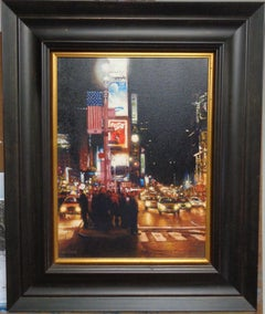 New York City Painting Times Square, Nocturne by Michael Budden