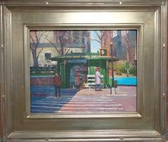 New York City Street Painting Paul Bachem News Stand