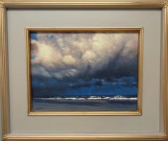 Ocean Beach Seascape Oil Painting by Michael Budden Dramatic Ending