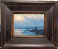 Ocean Impressionistic Seascape Painting Michael Budden Beautiful Light Jetty