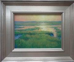 Ocean Impressionistic Seascape Painting Michael Budden Morning Marsh Light