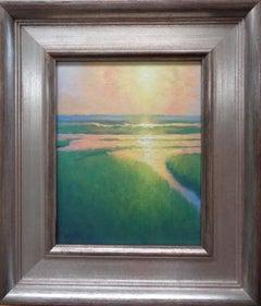 Ocean Impressionistic Seascape Painting Michael Budden Morning Marsh Light II
