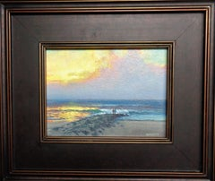 Seascape Study Contemporary Oil Painting Sunrise Series by Michael Budden