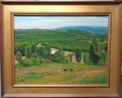 Summer Landscape Cows Salmagundi Club Award Winning Oil Painting Michael Budden