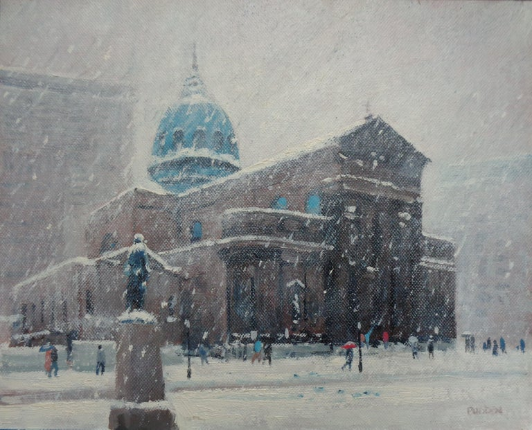 Saints Peter & Paul Cathedral Philadelphia PA oil/canvas panel 8 x 10 image   SELLERS STATEMENT I have been in the art business as an artist and dealer since the early 80's. Almost 40 years now. I primarily concentrate on my own art but have bought