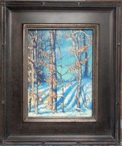 Winter Landscape Oil Painting by Michael Budden Beautiful Light