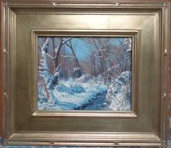 Winter Landscape Oil Painting by Michael Budden Fresh Snow