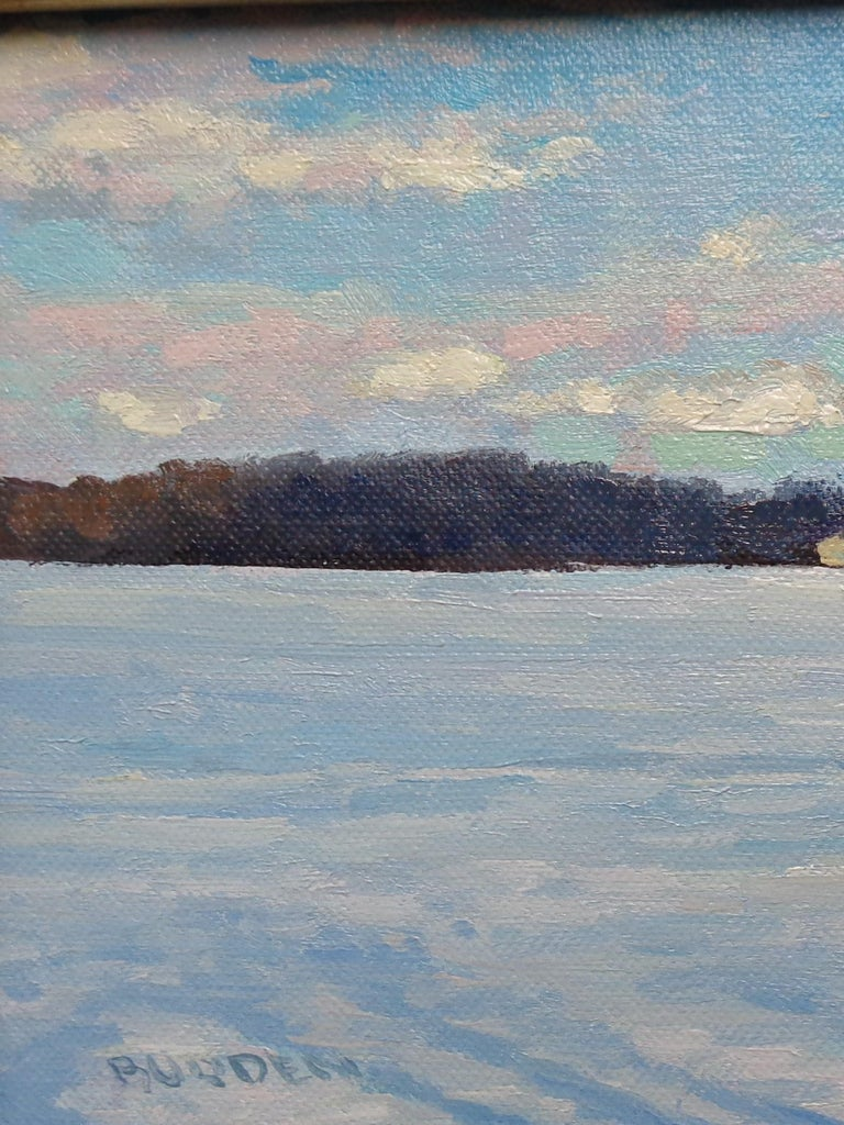 Winter Landscape Oil Painting by Michael Budden Winter Farm Study For Sale 2
