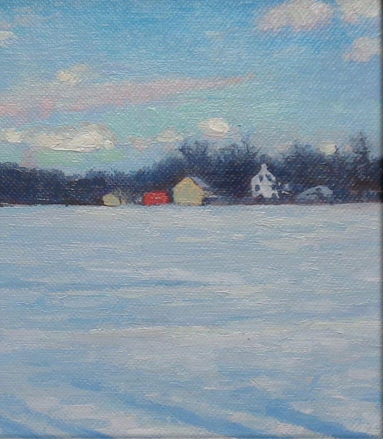 Winter Landscape Oil Painting by Michael Budden Winter Farm Study For Sale 3