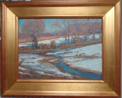 Winter Landscape Oil Painting by Michael Budden Winter Sun
