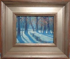 Winter Landscape Oil Painting by Michael Budden Woodland Winter Interior