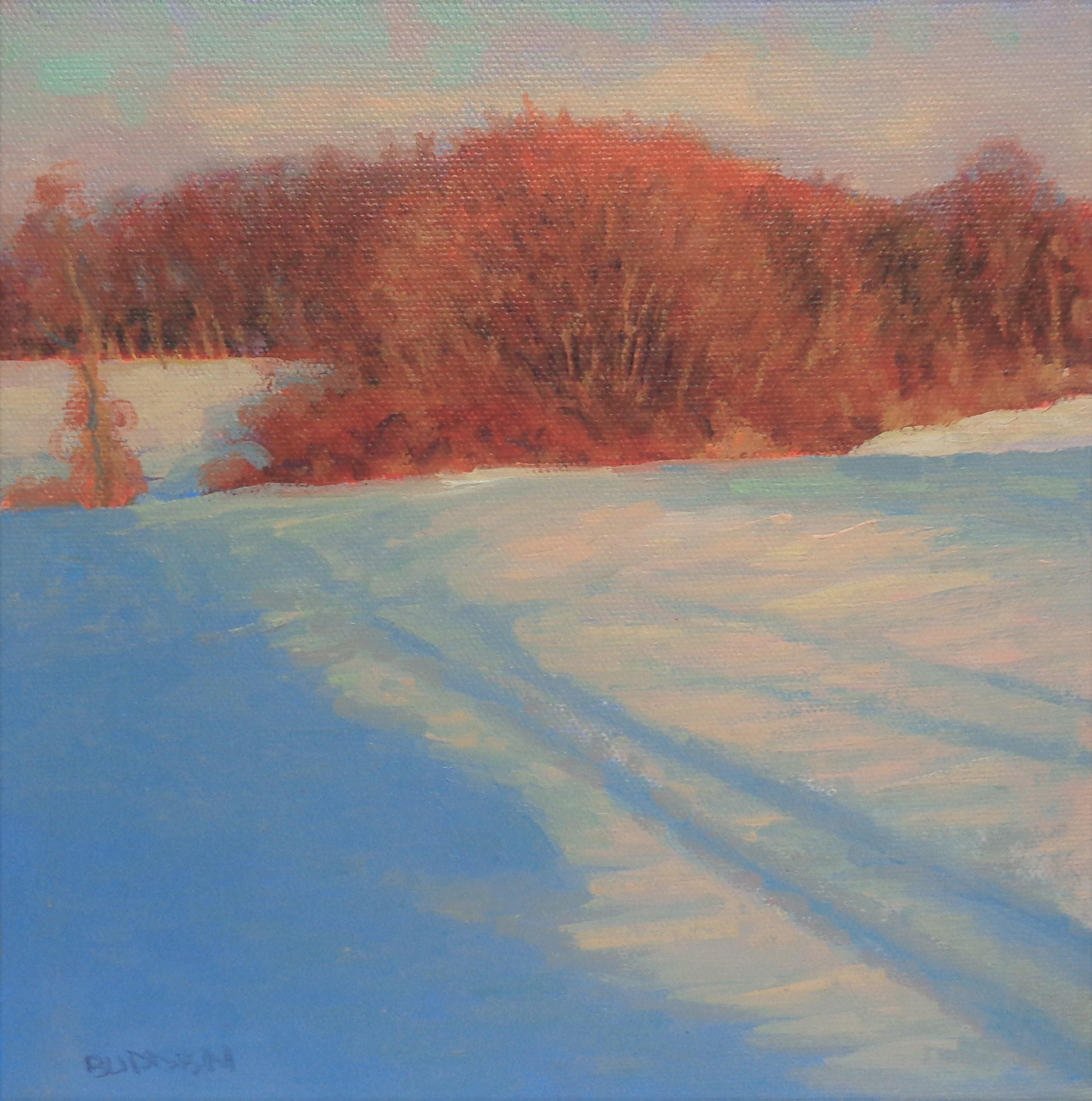 Winter Landscape Oil Painting Michael Budden  Winter Light Snow Shadows