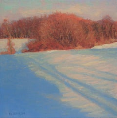 Winter Landscape Oil Painting Michael Budden  Winter Light Snow Shadows