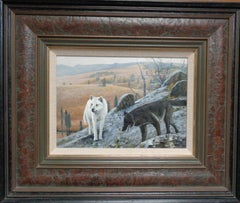 Wolves Landscape Painting by Michael Budden Wildlife Animals