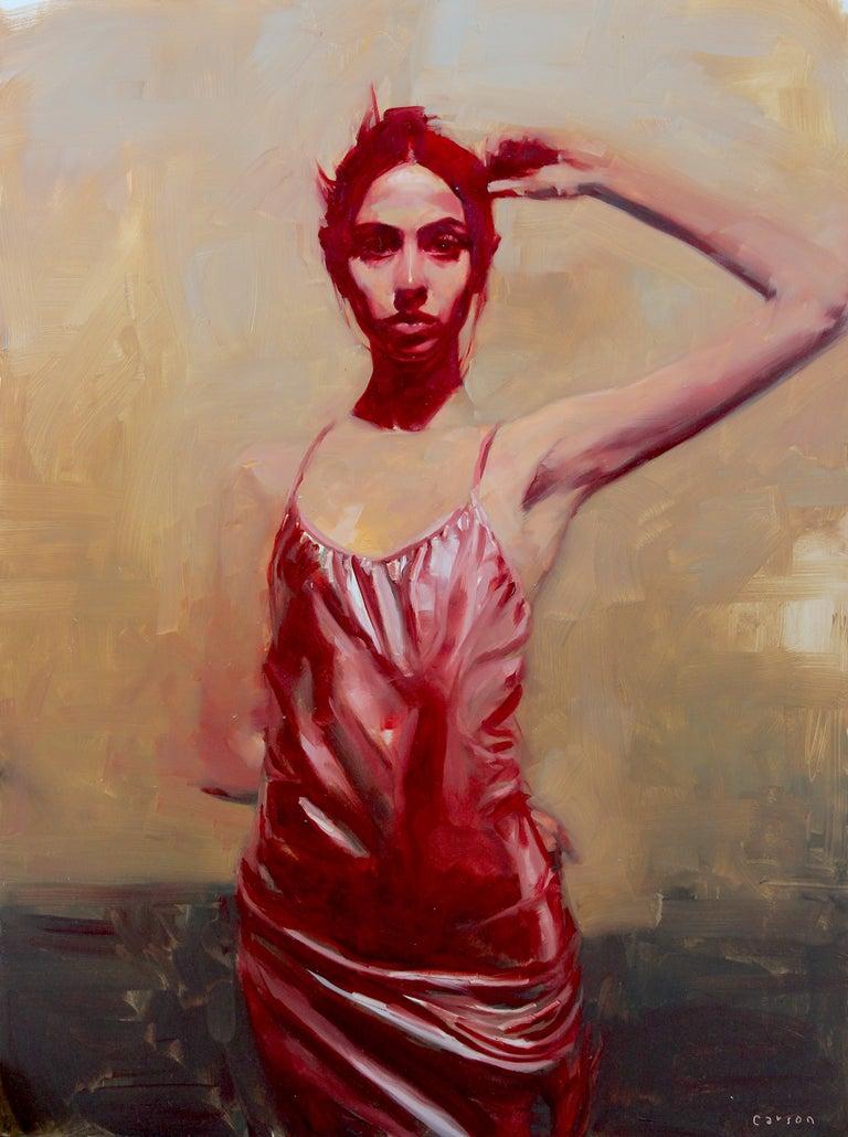 "Michael Carson Portrait Painting - ""Slight of Hand"""