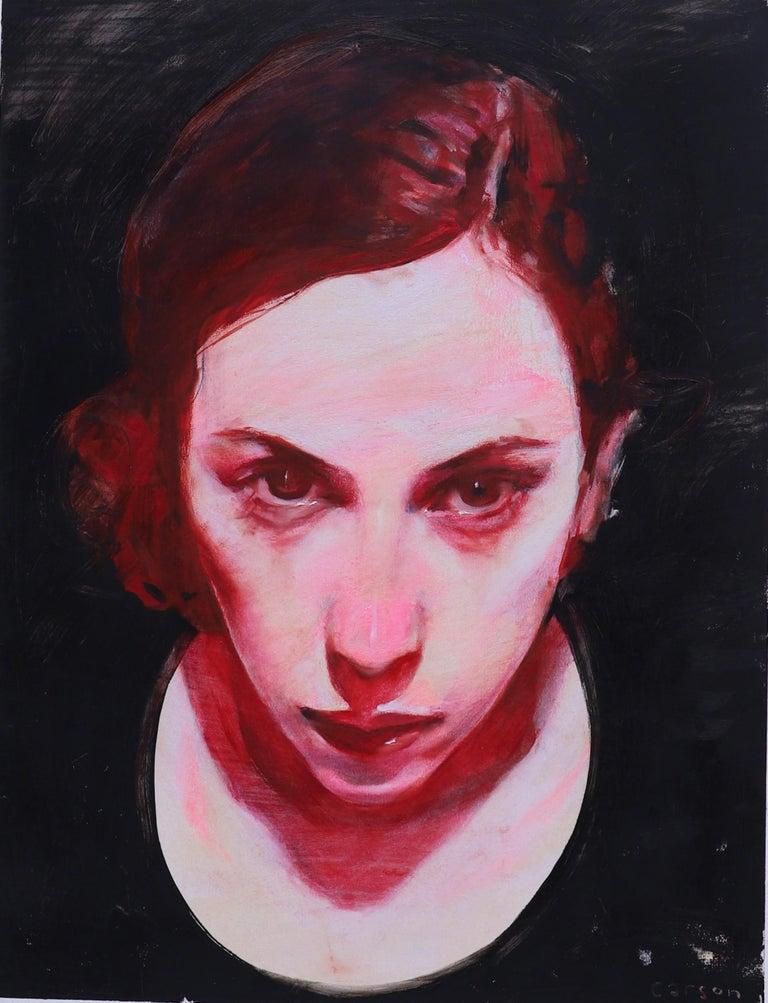 """Michael Carson Portrait Painting - """"Smolder"""""""
