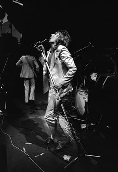 Rod Stewart Rocking Out on Stage Fine Art Print