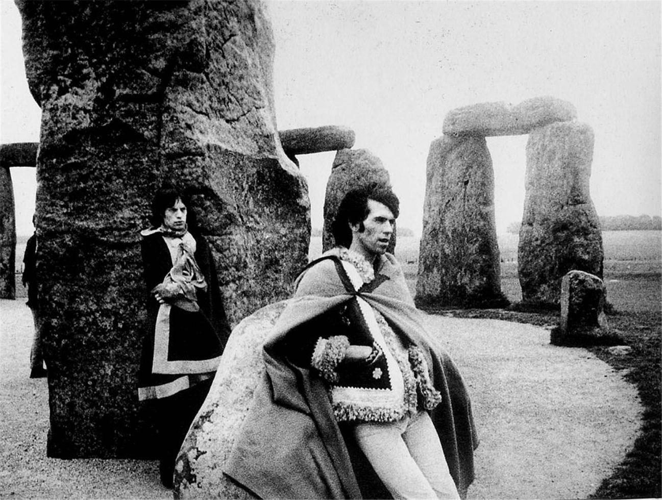 Keith Richards & Mick Jagger at Stonehenge, 1967