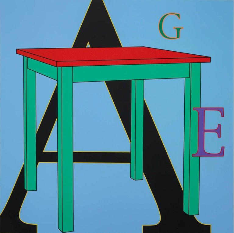 Michael Craig-Martin Abstract Painting - Age