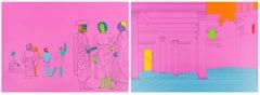 Deconstructing Piero (pink) -- Print, Contemporary Art by Michael Craig-Martin