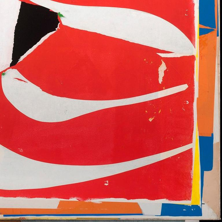 """""""Adhering collage elements to panels on which he can also paint, Cutlip gives just the right heft to his compositions, a balancing act that many who work in this vein never perfect,"""" The San Francisco Chronicle's Art Critic, Kenneth Baker, says when"""