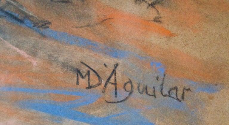 Dans L'Atelier Mardi - Mid 20th Century Nude Still Life Oil by Michael D'Aguilar For Sale 3