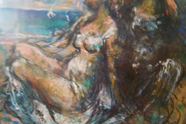 Girls by the Sea - Mid 20th Century Nude Still Life Oil by Michael D'Aguilar For Sale 3