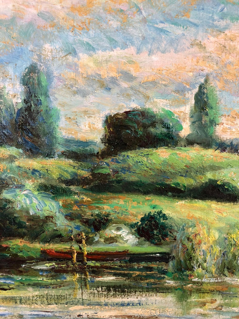 D'Aguilar was a popular impressionistic painter of landscapes, figurative scenes and townscapes, having exhibited in France, Britain and America, and won several medals from Royal Drawing Society and the Royal Academy amongst others. In this