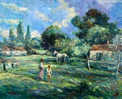 Le Cheval Blanc, Fressingfield Suffolk - Impressionist Oil Painting by D'Aguilar