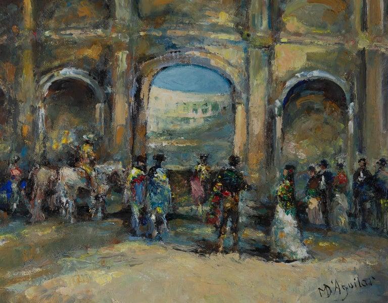 Michael D'Aguilar (1924-2011) - 20th Century Oil, Carmen Il Est Temps Encore! For Sale 1