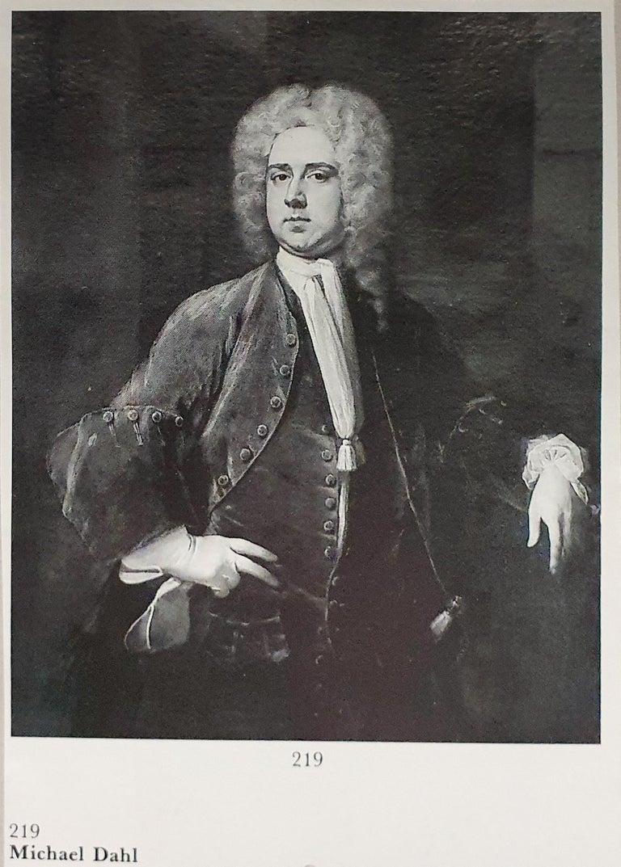 Portrait of a Gentleman Holding Gloves c.1723, Antique Oil Painting MICHAEL DAHL For Sale 5