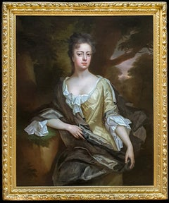 Portrait of Lady Catherine Stanhope Clarke (1675-1728) Antique Oil Painting