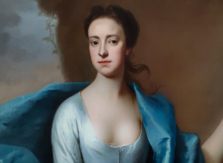 This elegant and graceful portrait is said to represent Miss Lyddell.   Painted by Michael Dahl, whom by 1700 became the most successful painter in England, second only to Godfrey Kneller.  It is noteworthy in its state of preservation and its