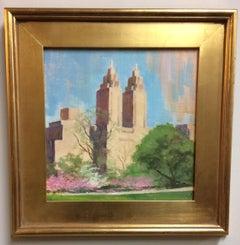 El Dorado Towers in Spring, original plein air impressionist landscape