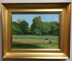 Summer in Central Park, New York City, original impressionist landscape