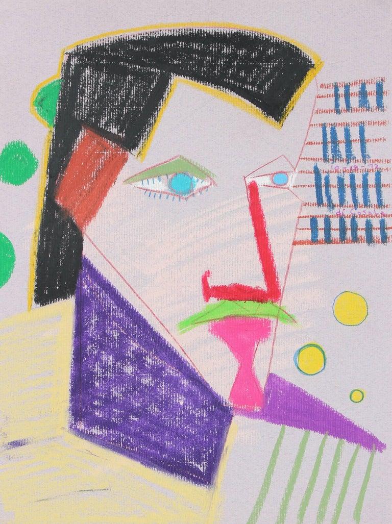 Surrealist Portrait in Pastel, 1972 - Art by Michael di Cosola