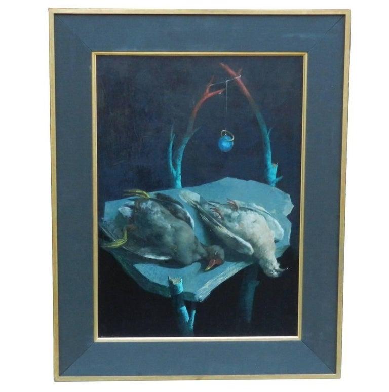 """Michael Dore, """"Tombe De Chefs"""", Oil on Canvas, circa 1970 For Sale"""