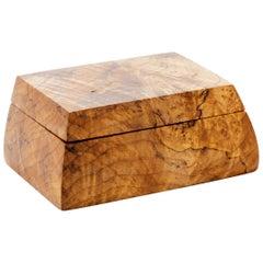 Michael Elkan American Studio Craft Lidded Box, Signed