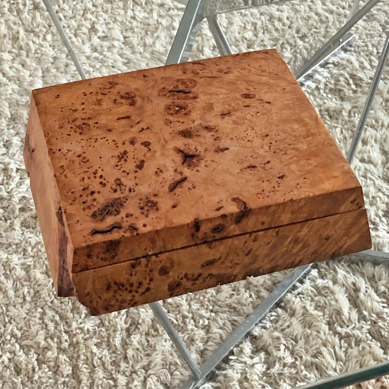 20th Century Michael Elkan Burled Wood Box For Sale