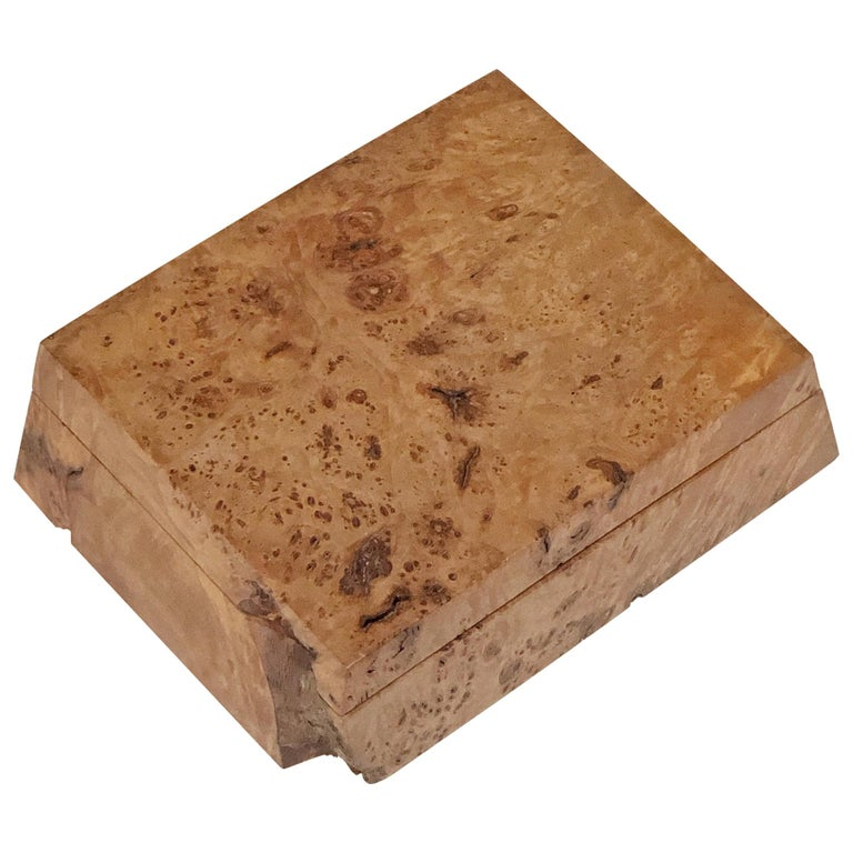 Michael Elkan Burled Wood Box For Sale