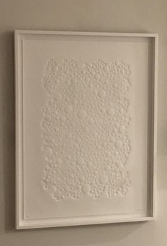 Untitled Debossed Paper, Dimensional, Work on Paper, movement, white, Limited Ed