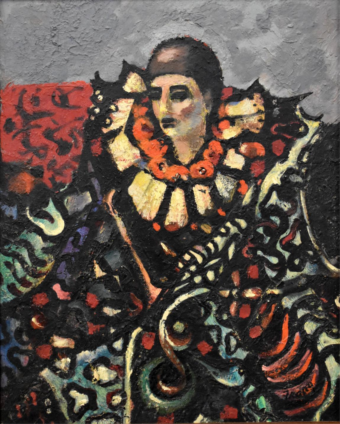 """THE CLOWN"" MICHAEL FRARY MID CENTURY MODERN TEXAS ARTIST"