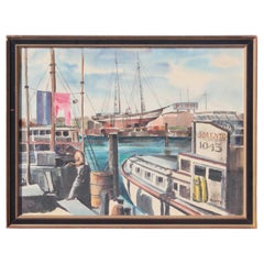 South Texas Nautical Harbor Scene