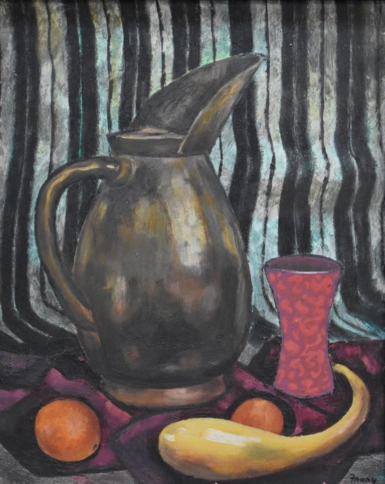 """Michael Frary Still-Life Painting - """"THE PITCHER""""  Mid Century Modern Texas Painting Oil"""