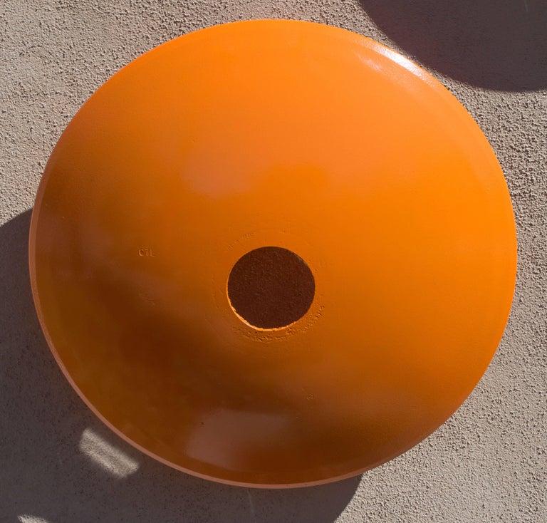 Terrace Disc, large light orange