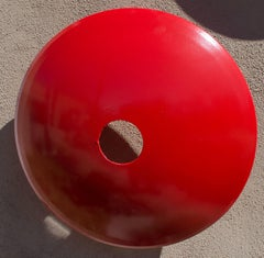 Terrace Disc, large red orange