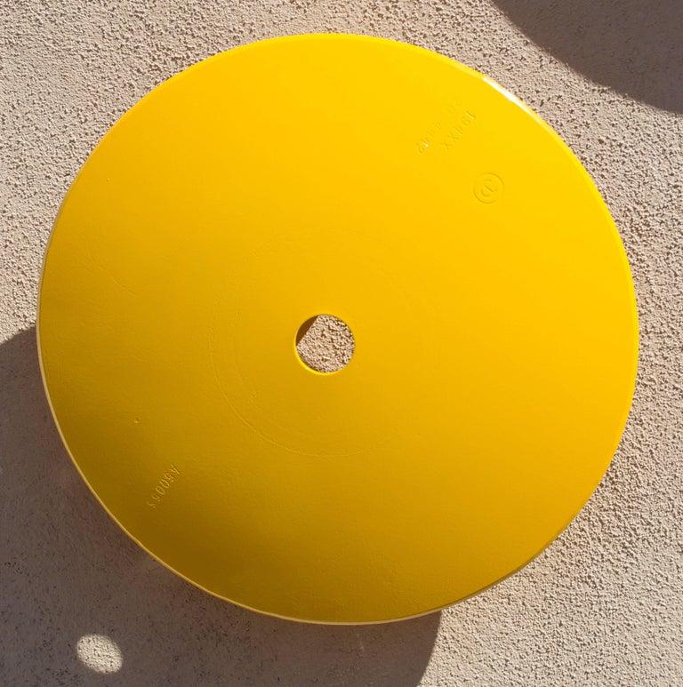 Terrace Disc, lemon yellow